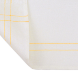 Serving Cloth, White, Yellow Stripes, 50x65cm, 50/50 Linnen/Cotton, Treb Towels