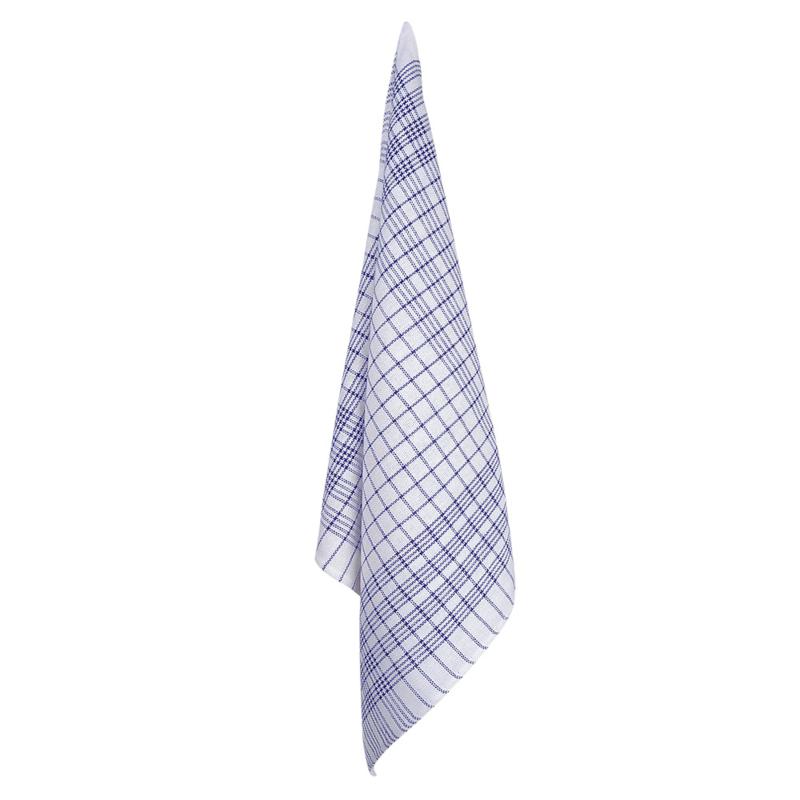 Kitchen Cloth, White, Blue Striping, 70x70cm, Treb Towels