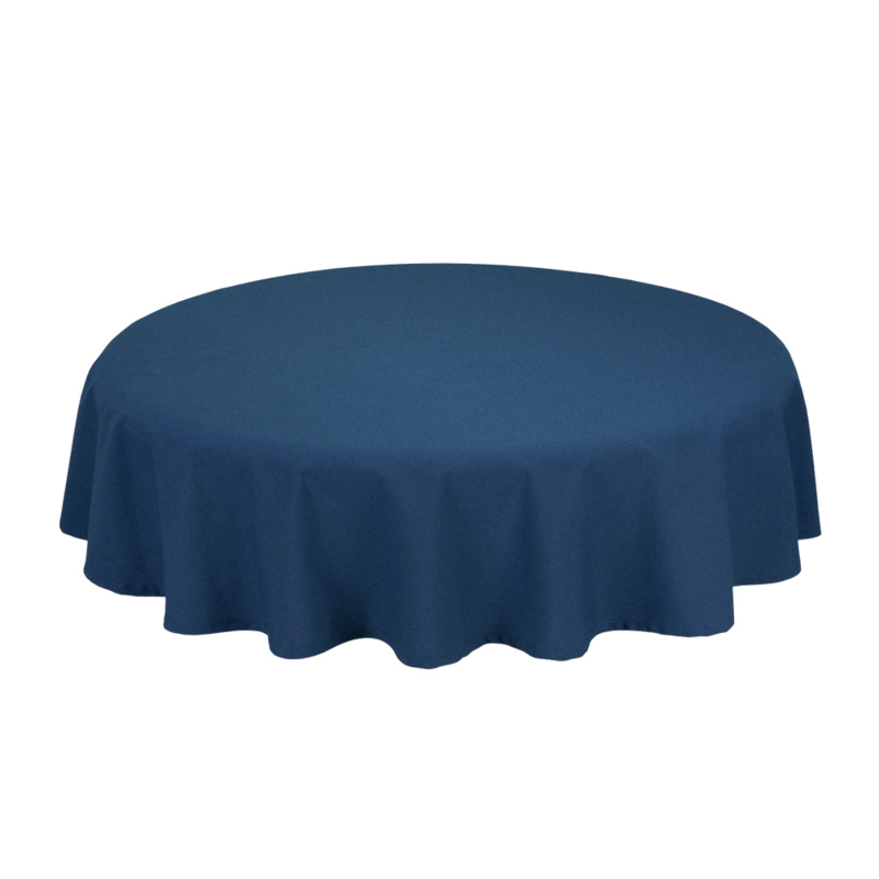 Tablecloth, Round, Navy, 132cm Ø, Treb SP
