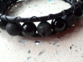 mat & glanzend zwart