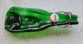 Gesmolten Grolsch flesje (met beugel)