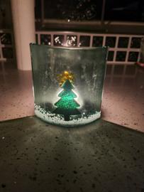 Kerstboom met ster-piek