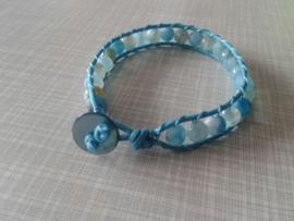 Aqua blauwe armband