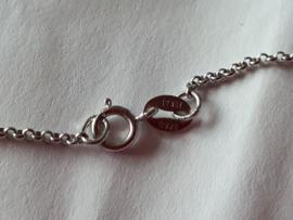 Amethyst met zilveren ketting