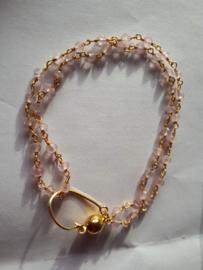 Rose quartz / rozenkwarts armband