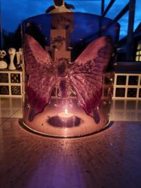 Paarse vlinder staander