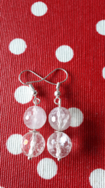 Bergkristal en hele lichte amethyst