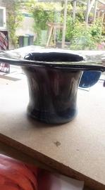 Zwart/witte grote vaas