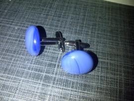 blauwe glazen manchetknopen