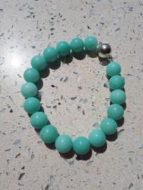 Mintgroene Jade met zilver