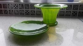 Peridot-groene set