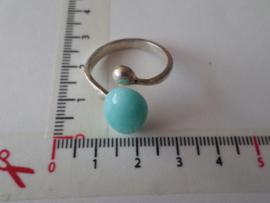 Zilveren ring met amazoniet