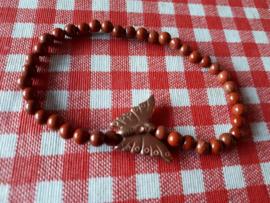 Goudsteen met 'rose gold' vlinder