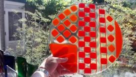 Orange/Red bowl with squares
