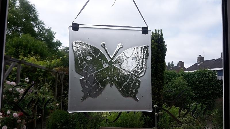 vierkante vlinder raamhanger