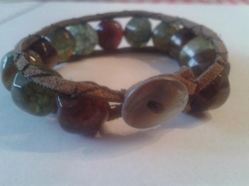 Chan-luu inspired armband met vuuragaat