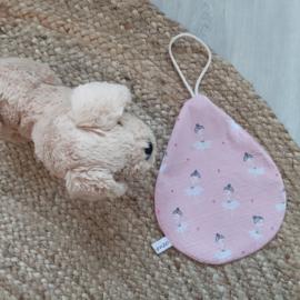 Speendoek oudroze roze ballerina