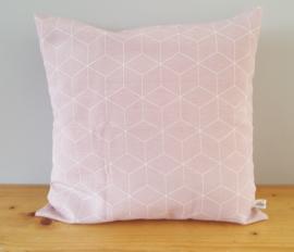Kussenhoes hexagon oud roze 40x40