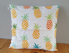 Kussenhoes ananas wit 40x40
