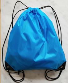 Nylon rugtas aquablauw
