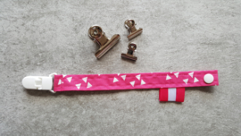 Stoffen speenkoord fuchsia roze