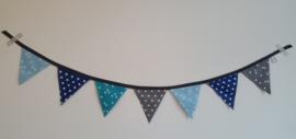 Mini vlaggetjes blauw/grijs