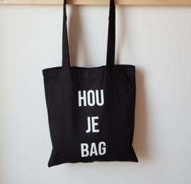Tas katoen HOU JE BAG