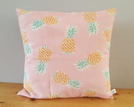 Kussenhoes ananas roze 40x40