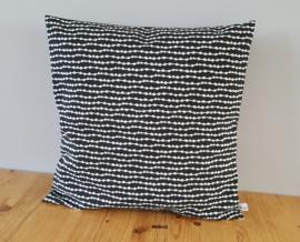 Kussenhoes zwart/wit confetti 40x40