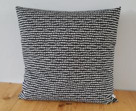 Kussenhoes zwart/wit confetti 50x50
