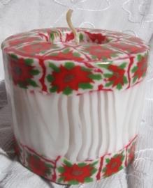 Kerstroosjes rand Swazi Candle
