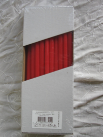 Bloemsteekkaars rood 31 cm