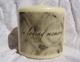 "Gedenkkaars ""In Loving Memory"""