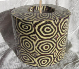 Spiralen donker rood Swazi Candle