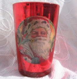 Kerstman in glaasje vanille