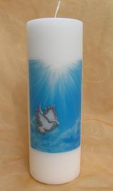 Clinderkaars Vredesduif met Licht