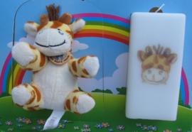 Geboortekaars Giraffe  & knuffel in geschenkdoos