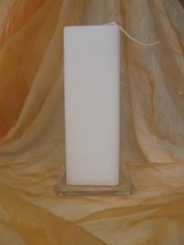 Vierkante kaars 7 x 20 cm wit