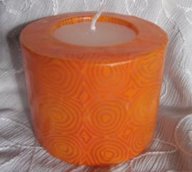 Spiralen oranje Swazi Candle