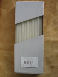 Bloemsteekkaars wit 31 cm