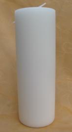 Cilinderkaars wit 22 x 7,5 cm