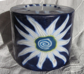 Bloem donkerblauw Swazi Candle
