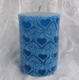 Hartjeskaars Blauw S Swazi Candle