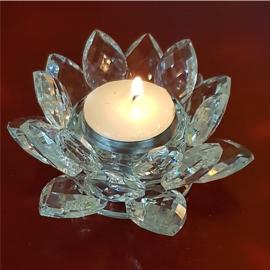 Lotus sfeerlicht kristal