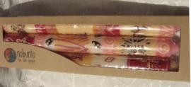 Handbeschilderde kaarsen Nobunto Roze