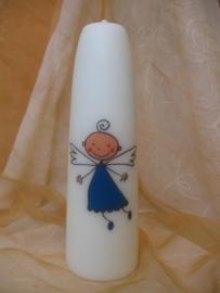 Geboortekaars Engel Blauw