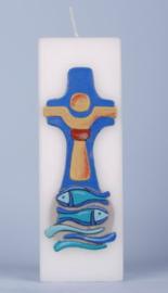 Kruis met Vissen kaars