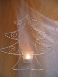 Kerstboom waxinelichthouder mobile
