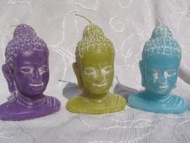 Boeddahoofd kaars gekleurd