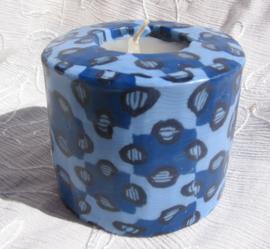 Blauw patroon Swazi Candle